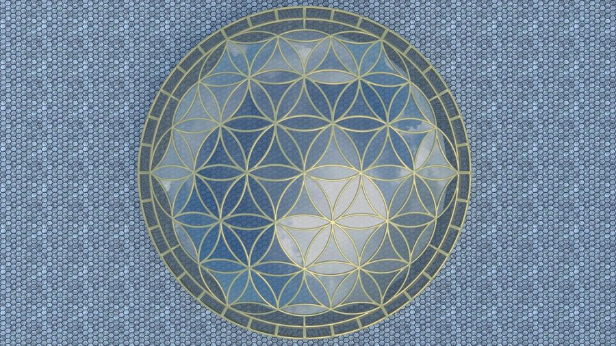 Flower of Life dome royalty-free 3d model - Preview no. 4