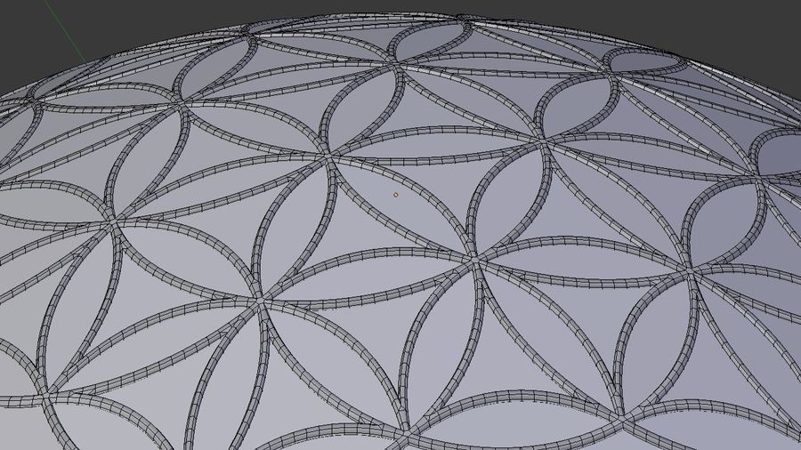 Flower of Life dome royalty-free 3d model - Preview no. 5