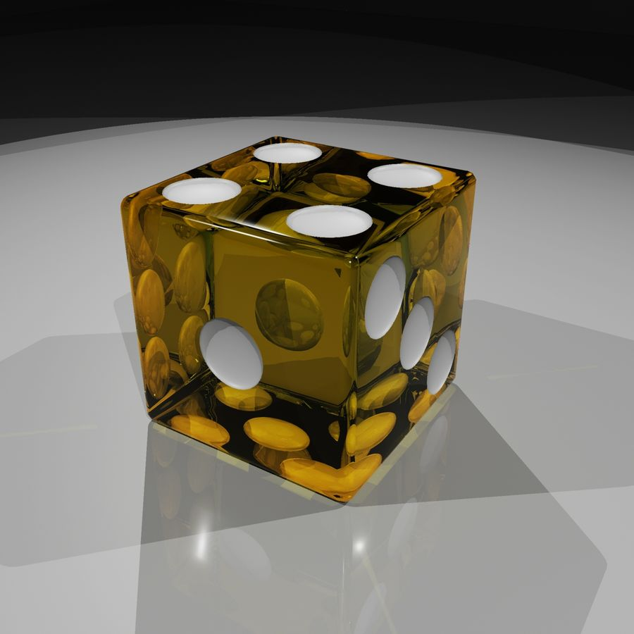 Dice 2.0 royalty-free 3d model - Preview no. 3