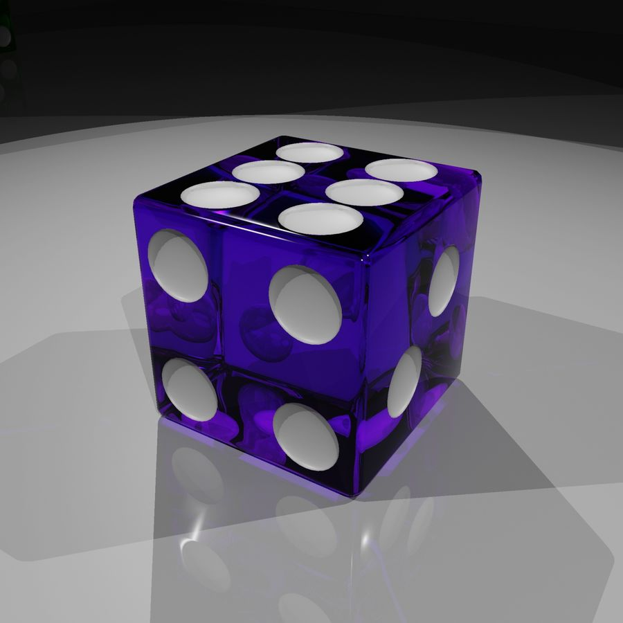 Dice 2.0 royalty-free 3d model - Preview no. 7