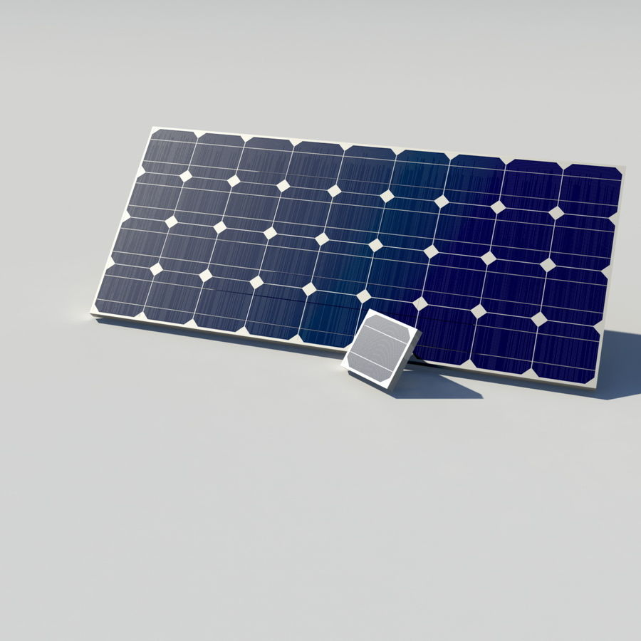 Solar Panel royalty-free 3d model - Preview no. 5
