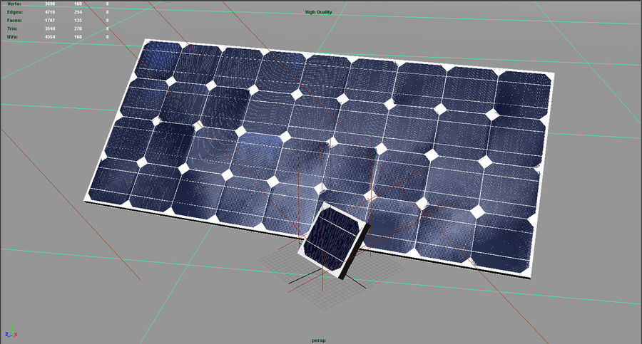 Solar Panel royalty-free 3d model - Preview no. 10