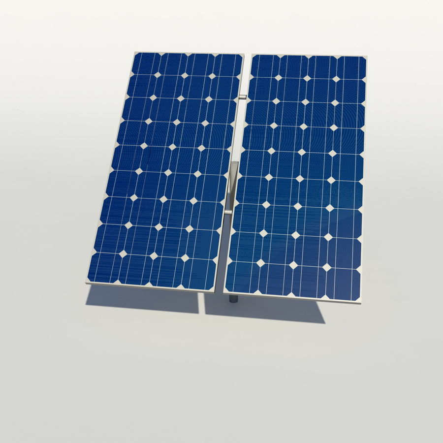 Solar Panel royalty-free 3d model - Preview no. 7