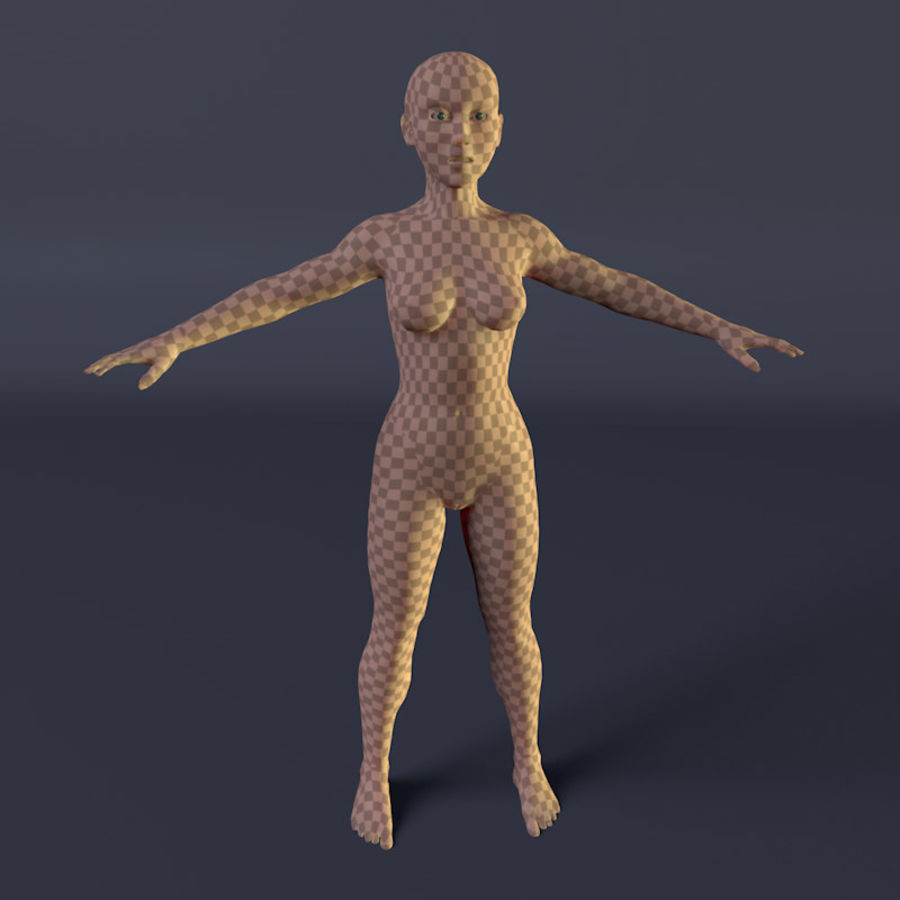 Kadın royalty-free 3d model - Preview no. 8