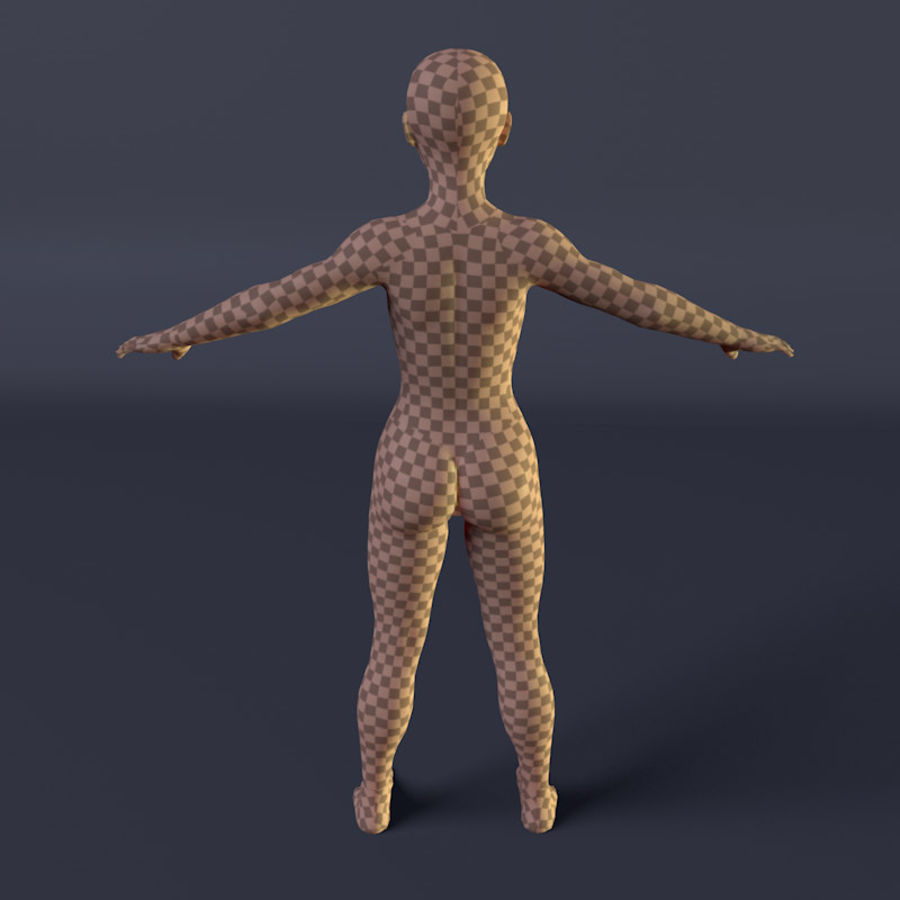 Kadın royalty-free 3d model - Preview no. 9
