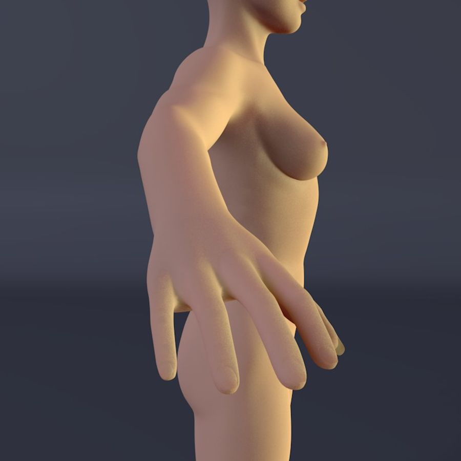 Kadın royalty-free 3d model - Preview no. 5