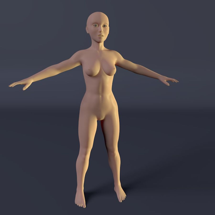Kadın royalty-free 3d model - Preview no. 2