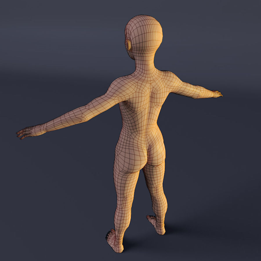 Kadın royalty-free 3d model - Preview no. 7