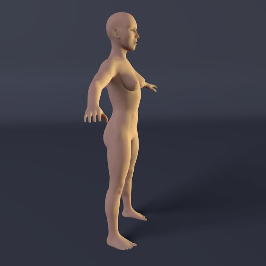 Kadın royalty-free 3d model - Preview no. 3