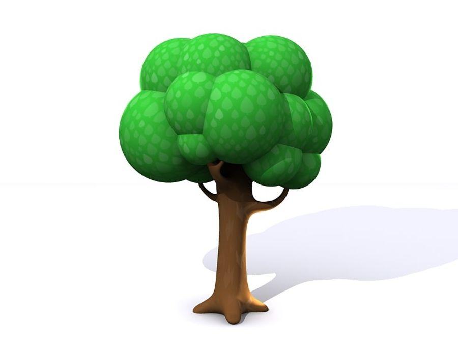 Arbol Con Ramas Animado: Árbol De Dibujos Animados Con Ramas Modelo 3D $8