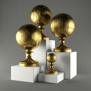 Sports trophies 3d model