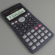 Calculator FX-570 3d model