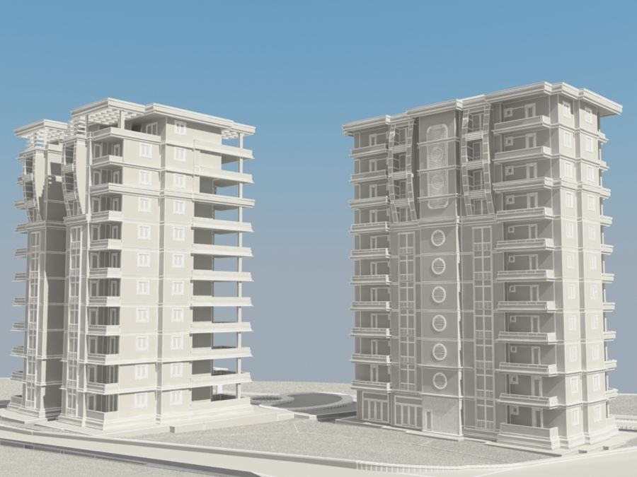 City 1 royalty-free 3d model - Preview no. 9