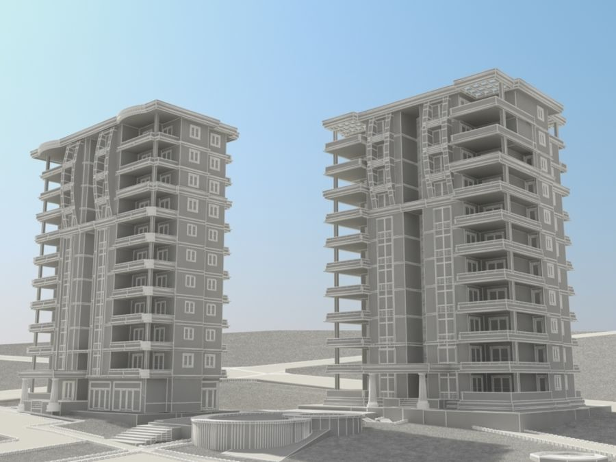 City 1 royalty-free 3d model - Preview no. 10