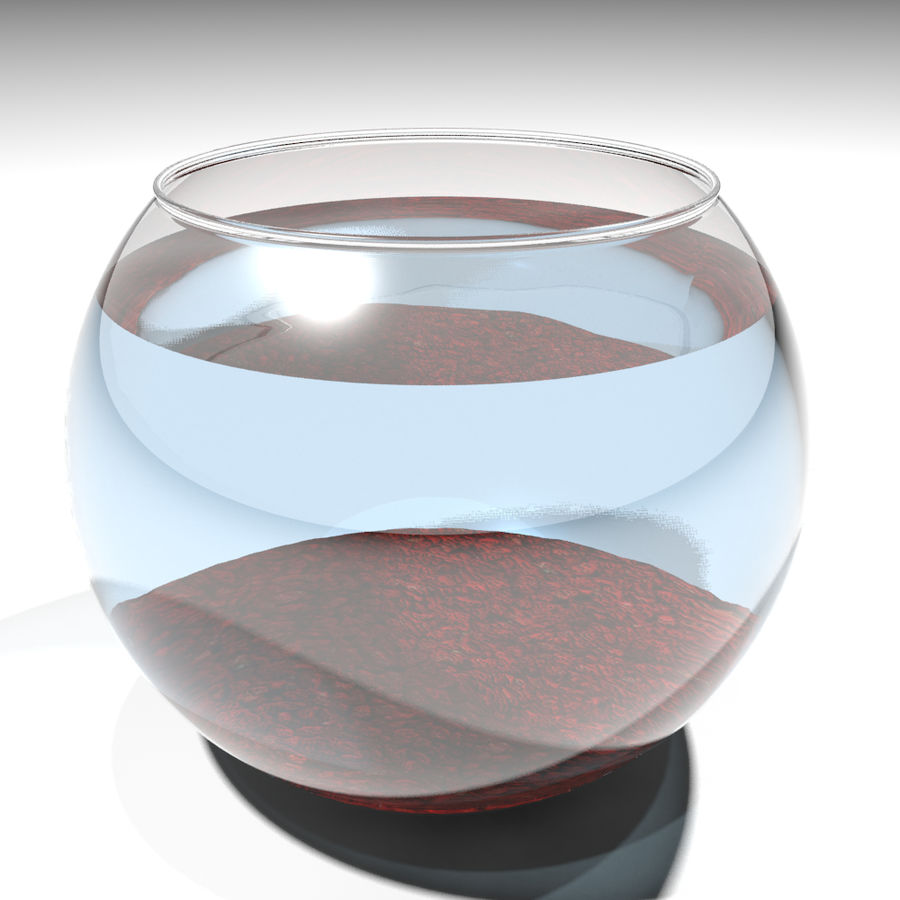 Fishbowl(1) royalty-free 3d model - Preview no. 4
