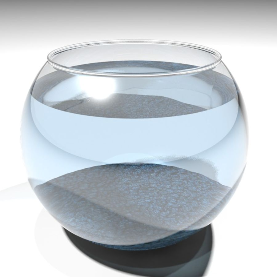 Fishbowl(1) royalty-free 3d model - Preview no. 6