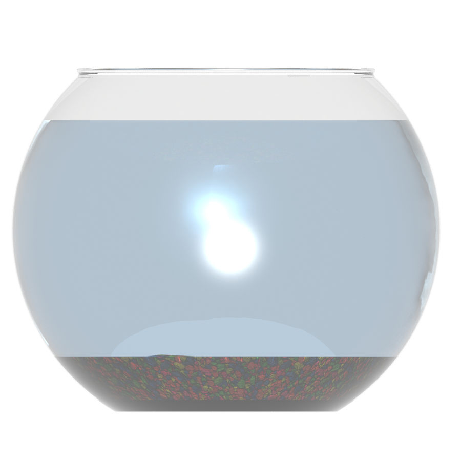 Fishbowl(1) royalty-free 3d model - Preview no. 7