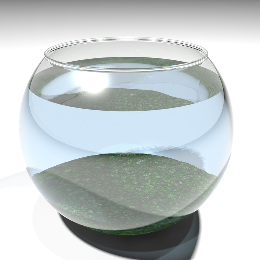 Fishbowl(1) royalty-free 3d model - Preview no. 5