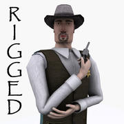 Sheriff Lowpoly Rigged 3d model