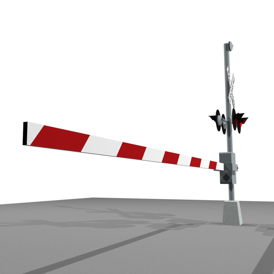 Train / Railroad Crossing Sign: C4D Format royalty-free 3d model - Preview no. 11