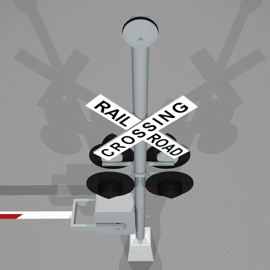 Train / Railroad Crossing Sign: C4D Format royalty-free 3d model - Preview no. 10