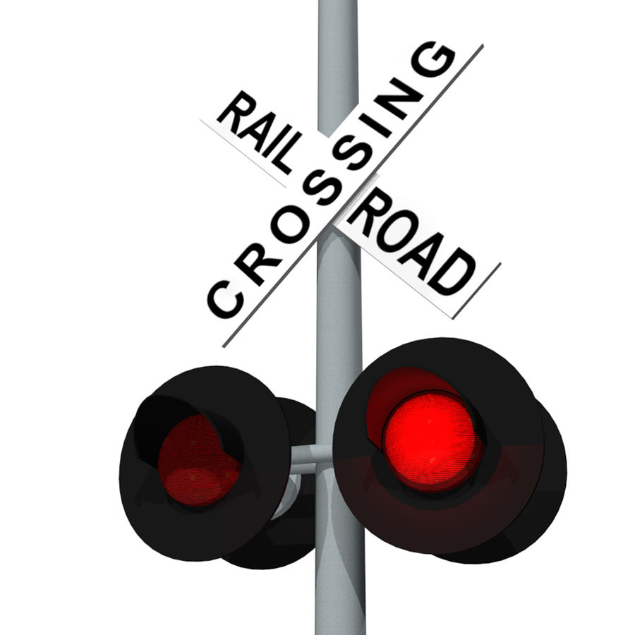 photograph about Railroad Crossing Sign Printable referred to as Educate / Railroad Crossing Signal: C4D Structure 3D Type $5
