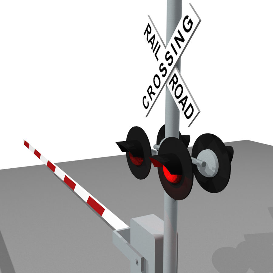 Train / Railroad Crossing Sign: C4D Format royalty-free 3d model - Preview no. 9