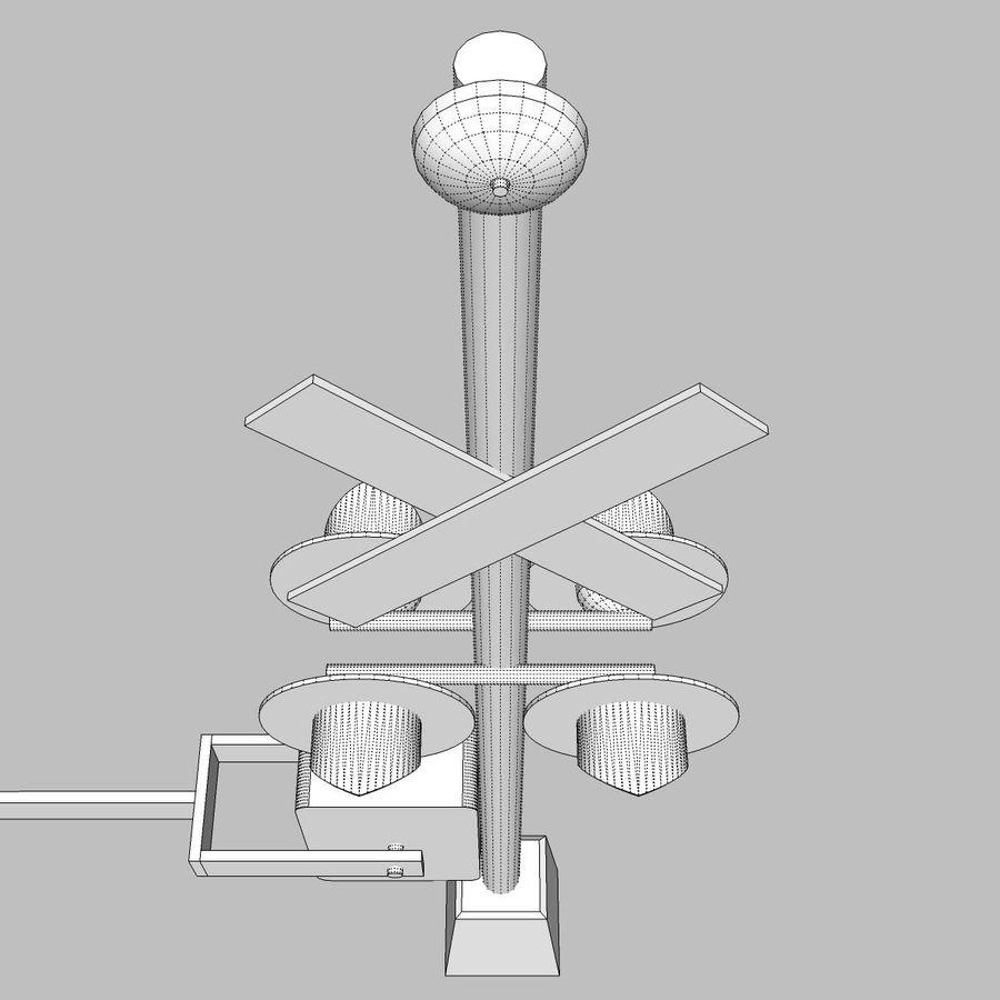 Train / Railroad Crossing Sign: C4D Format royalty-free 3d model - Preview no. 22