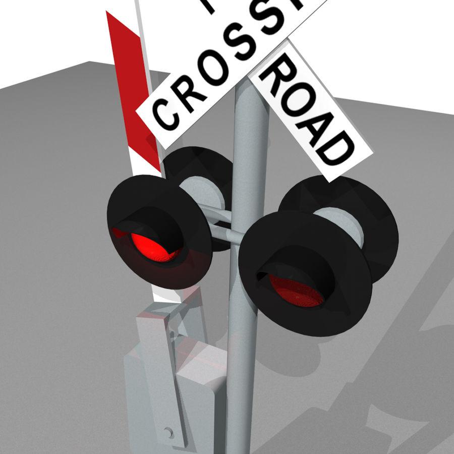 Train / Railroad Crossing Sign: C4D Format royalty-free 3d model - Preview no. 8