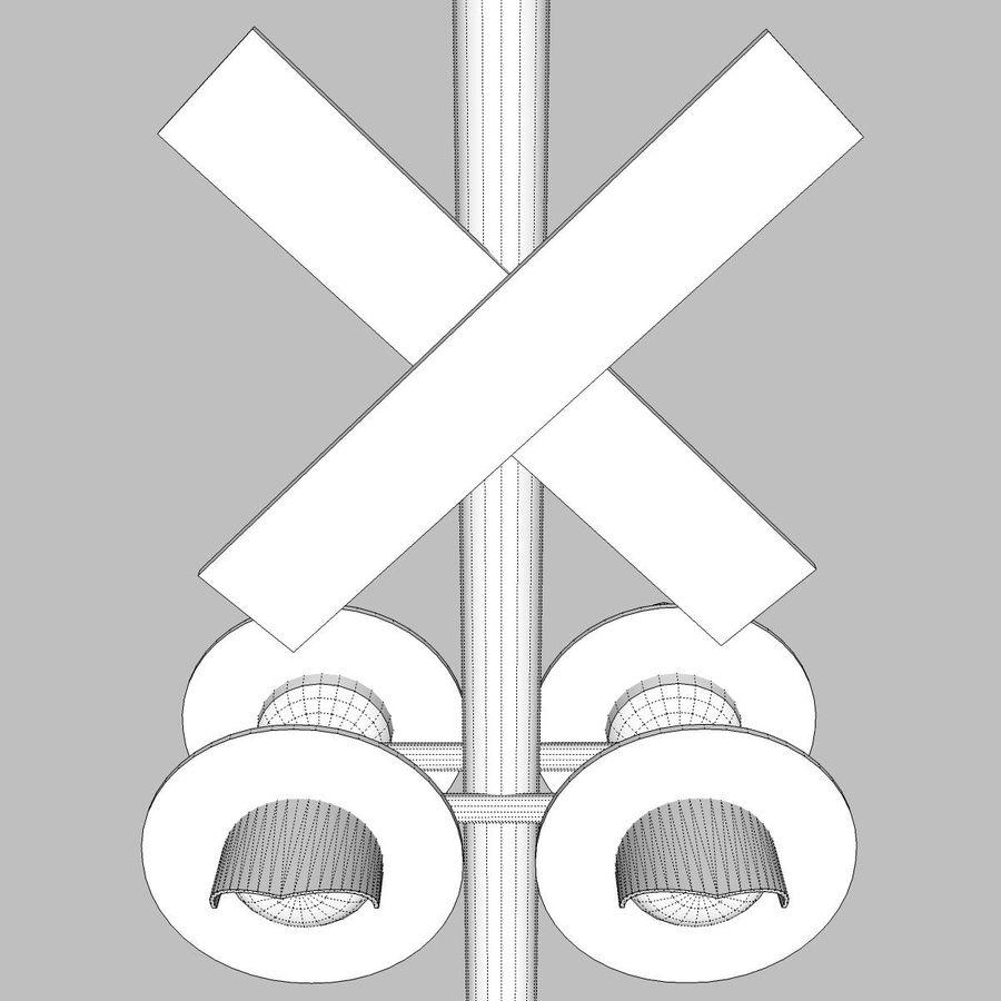 Train / Railroad Crossing Sign: C4D Format royalty-free 3d model - Preview no. 17