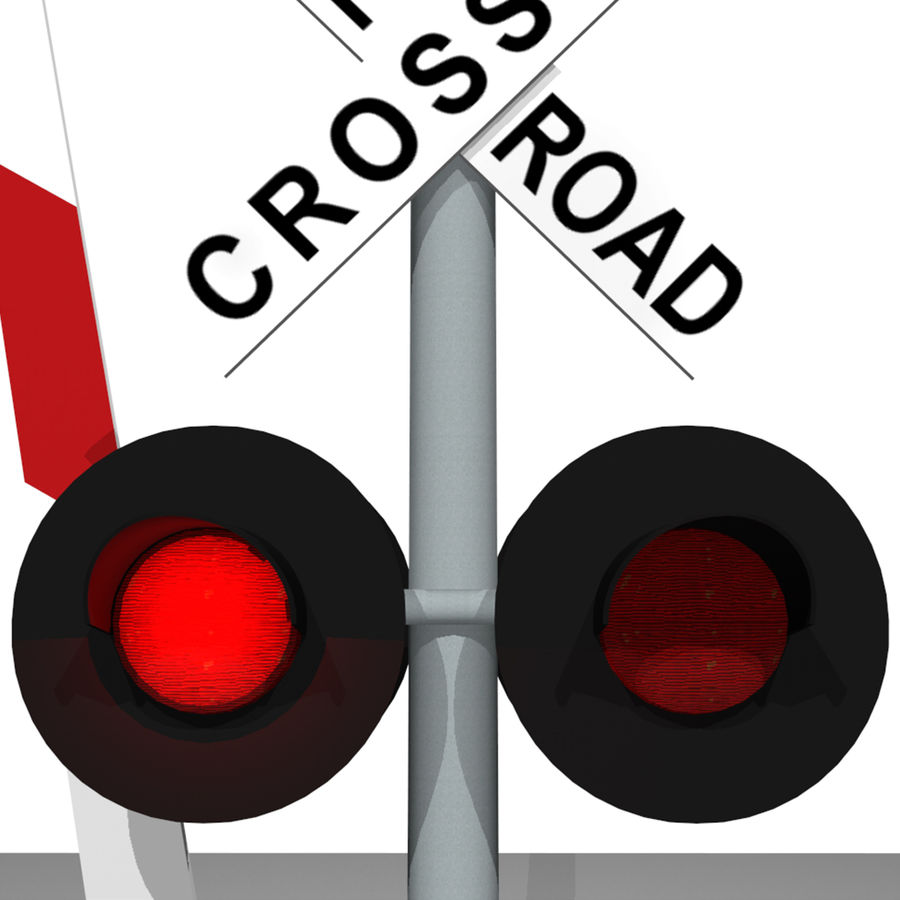 Train / Railroad Crossing Sign: C4D Format royalty-free 3d model - Preview no. 13