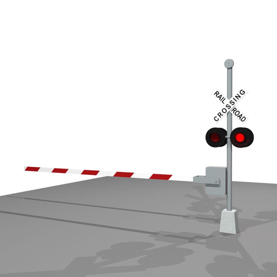 Train / Railroad Crossing Sign: C4D Format royalty-free 3d model - Preview no. 3