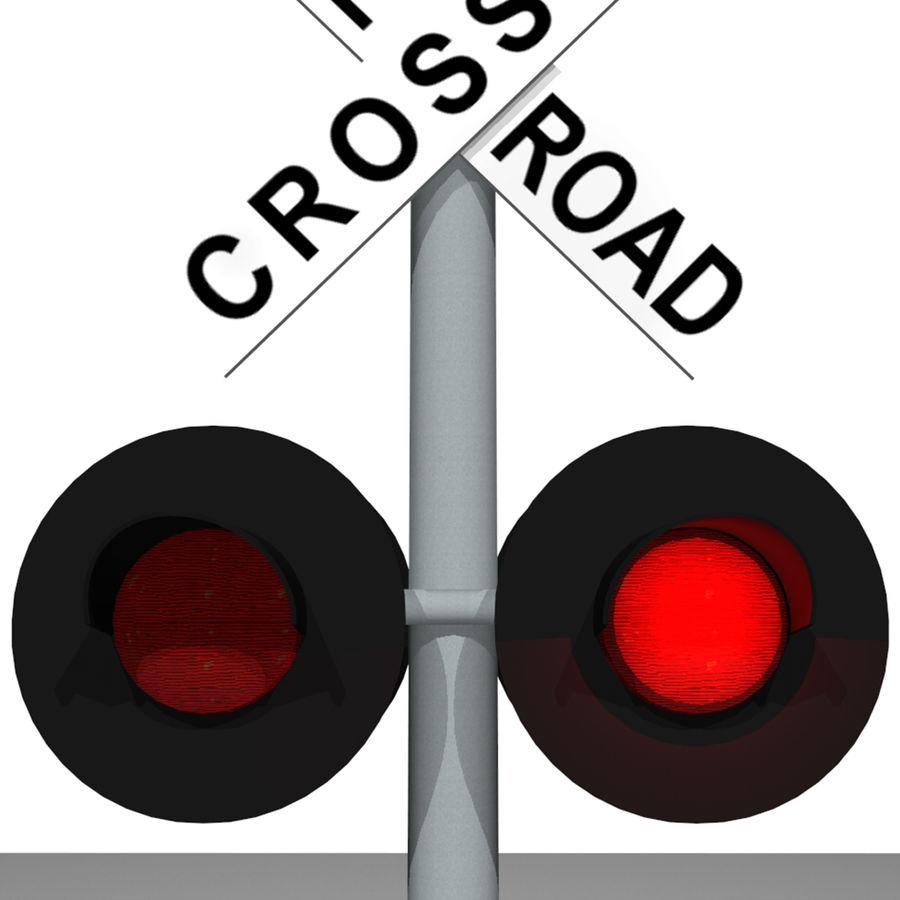 Train / Railroad Crossing Sign: C4D Format royalty-free 3d model - Preview no. 12