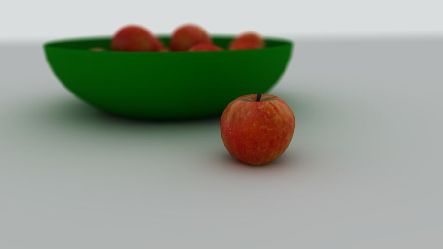 Apples royalty-free 3d model - Preview no. 2