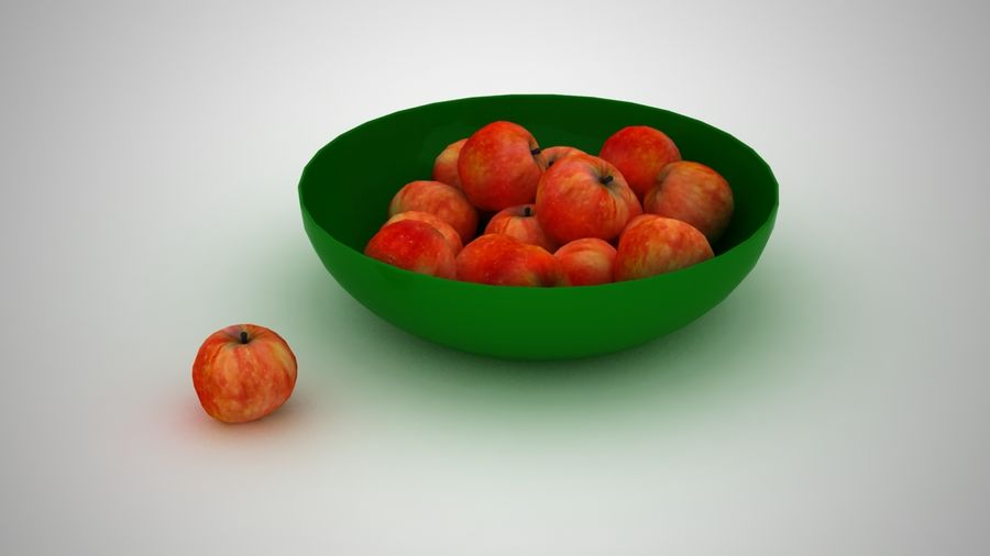 Apples royalty-free 3d model - Preview no. 6