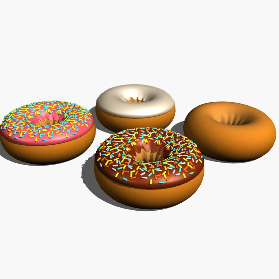 Donut_cake royalty-free 3d model - Preview no. 3