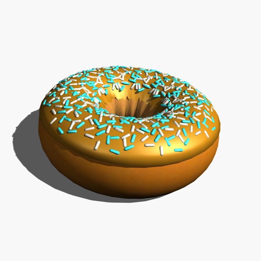 Donut_cake royalty-free 3d model - Preview no. 2