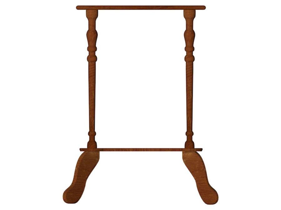 Stary drewniany stojak na rośliny royalty-free 3d model - Preview no. 3