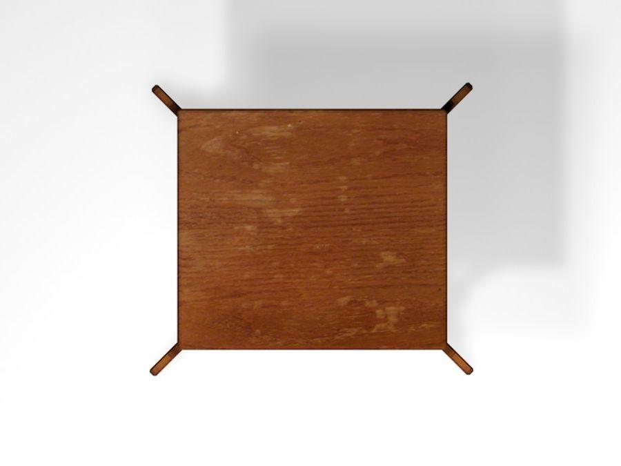 Stary drewniany stojak na rośliny royalty-free 3d model - Preview no. 4