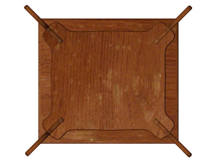 Stary drewniany stojak na rośliny royalty-free 3d model - Preview no. 5