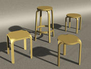 Designerstolar 3d model