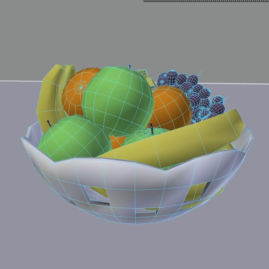fruit bowl royalty-free 3d model - Preview no. 10