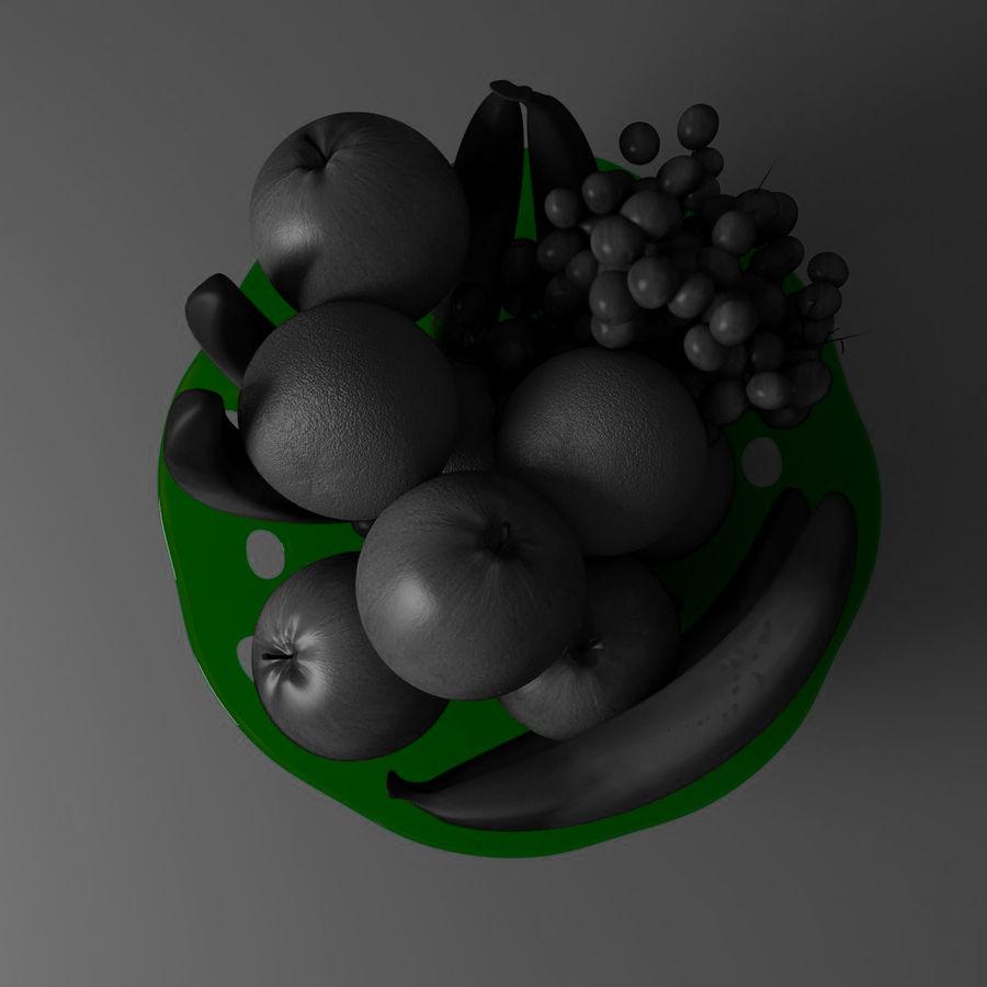 fruit bowl royalty-free 3d model - Preview no. 6