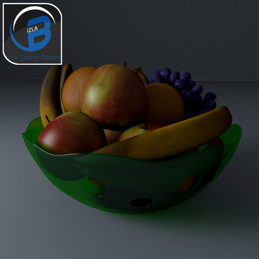 fruit bowl royalty-free 3d model - Preview no. 1
