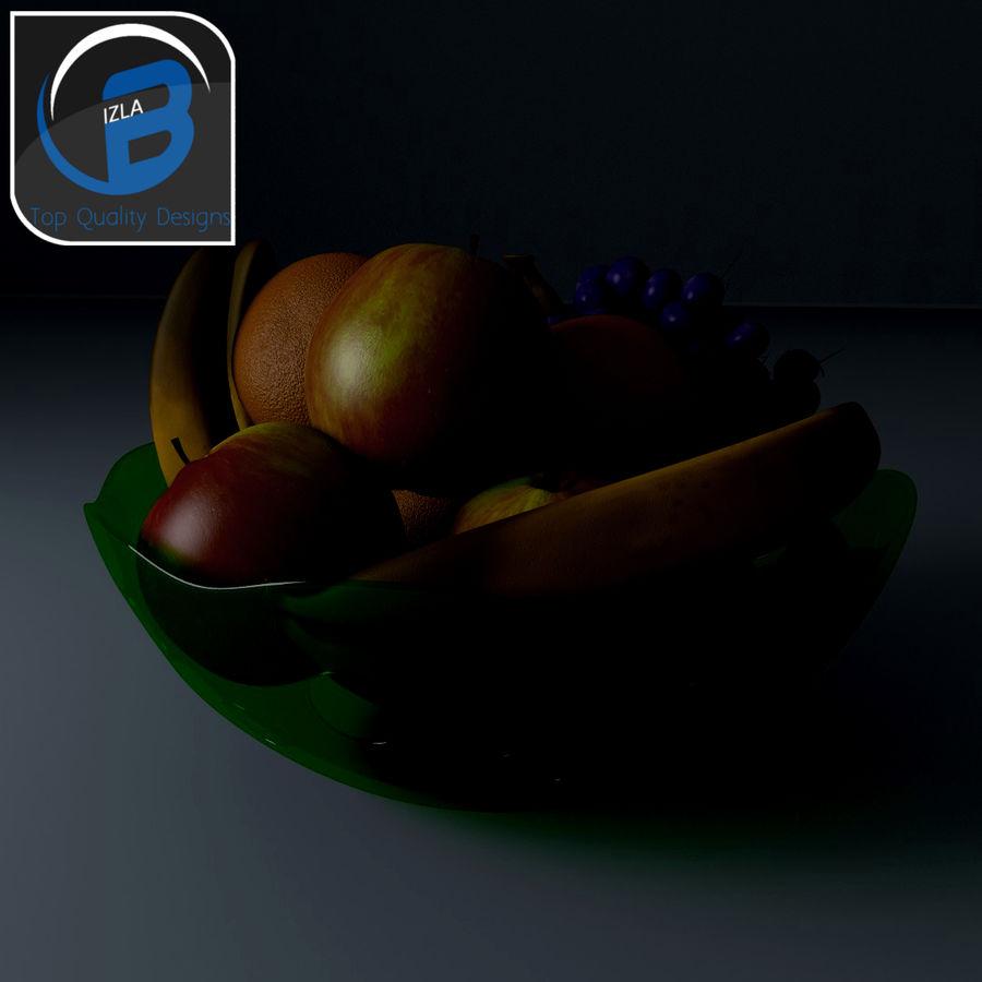 fruit bowl royalty-free 3d model - Preview no. 3