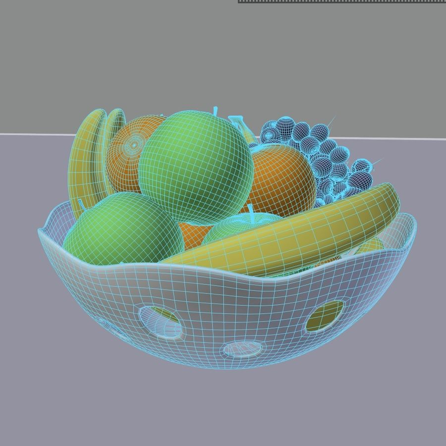 fruit bowl royalty-free 3d model - Preview no. 9