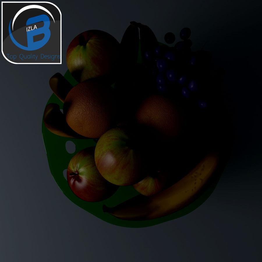 fruit bowl royalty-free 3d model - Preview no. 4