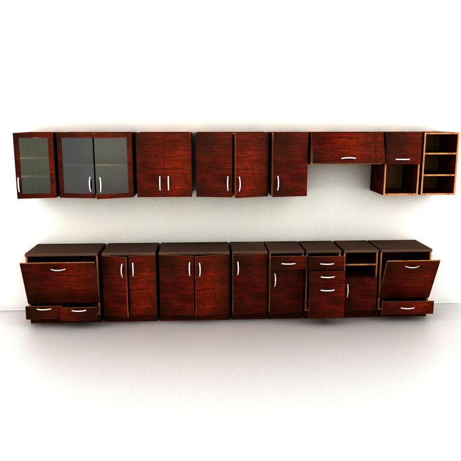 Kitchen Set 16 Furnitures 3d Model 19 Fbx 3ds Obj Max Free3d