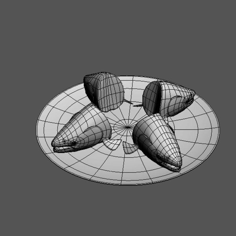 baş somon balığı royalty-free 3d model - Preview no. 2