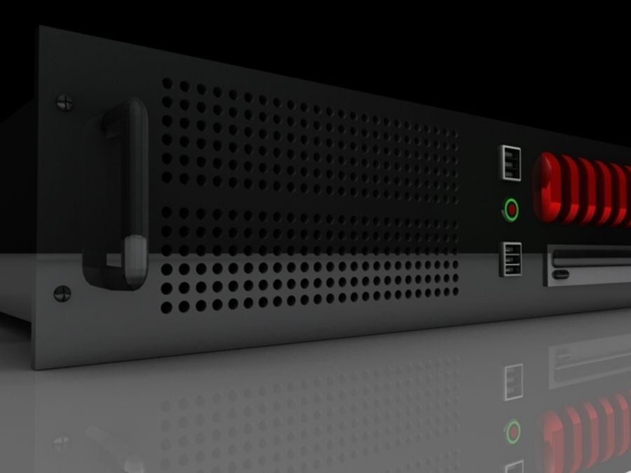 CPU Rack 2 royalty-free 3d model - Preview no. 4